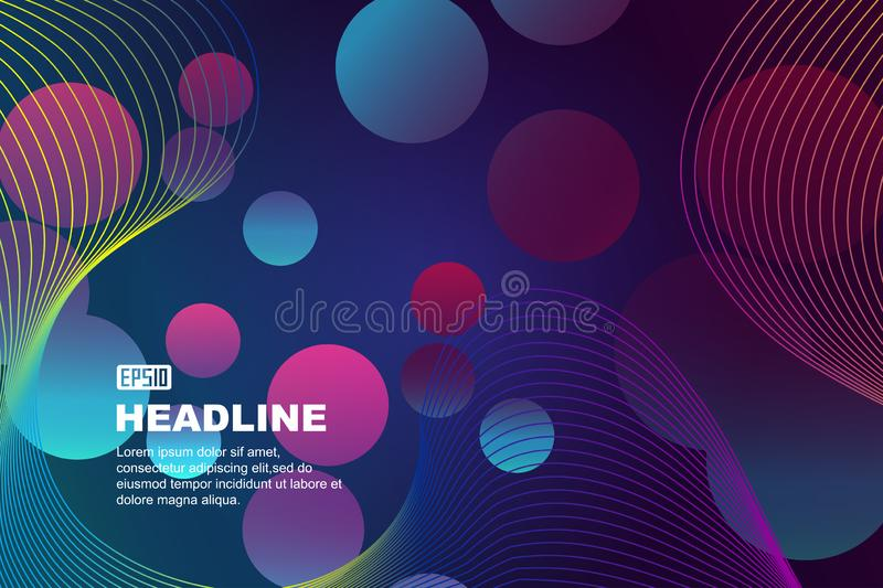 Create abstract vector backgrounds with colorful wavy lines and gradient fluid vector illustration