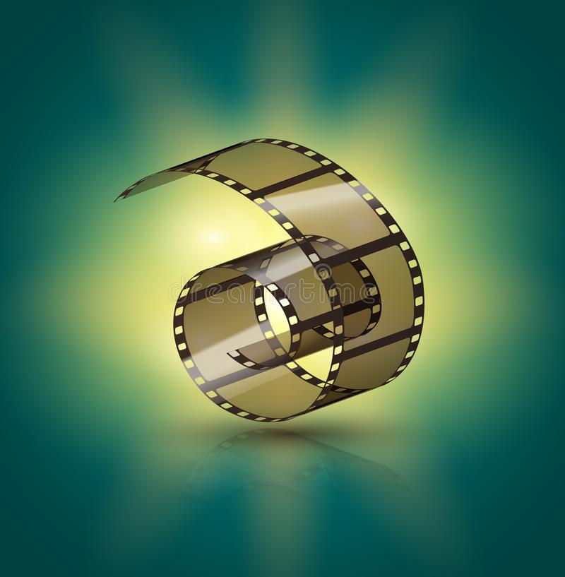 影片小条卷 戏院磁带设计 Filmstrip电影娱乐 摄影框架 向量例证