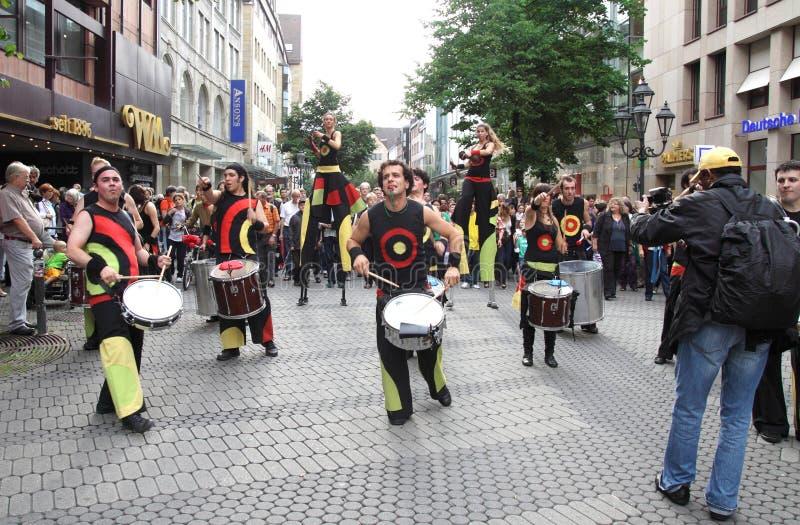 德国,纽伦堡 2011年7月29日 吟呦诗人音乐节 免版税库存图片