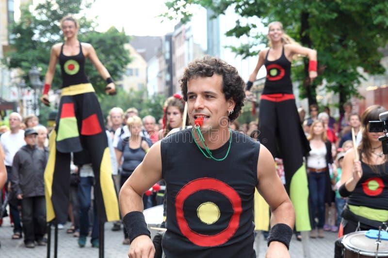 德国,纽伦堡 2011年7月29日 吟呦诗人音乐节 库存照片