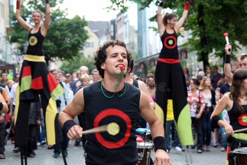 德国,纽伦堡 2011年7月29日 吟呦诗人音乐节 图库摄影
