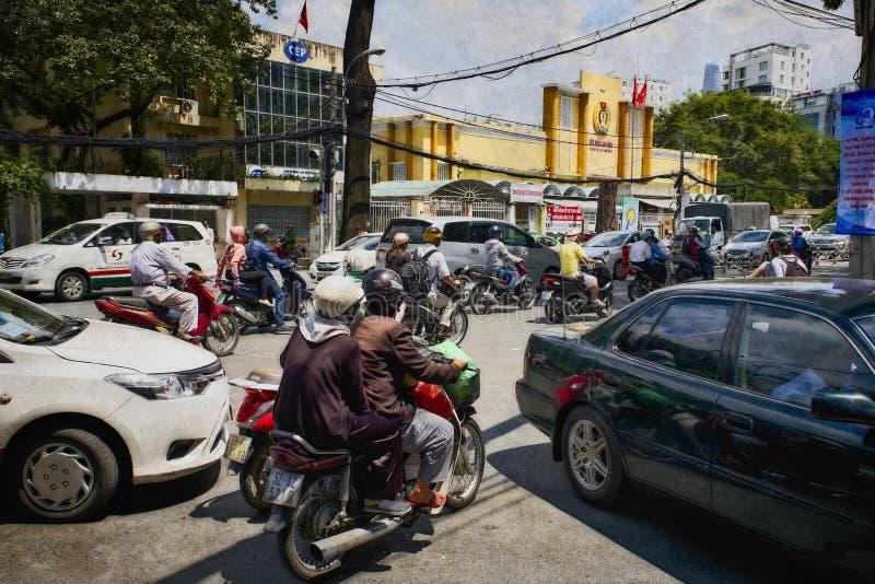 城市环境胡志明西贡 库存图片