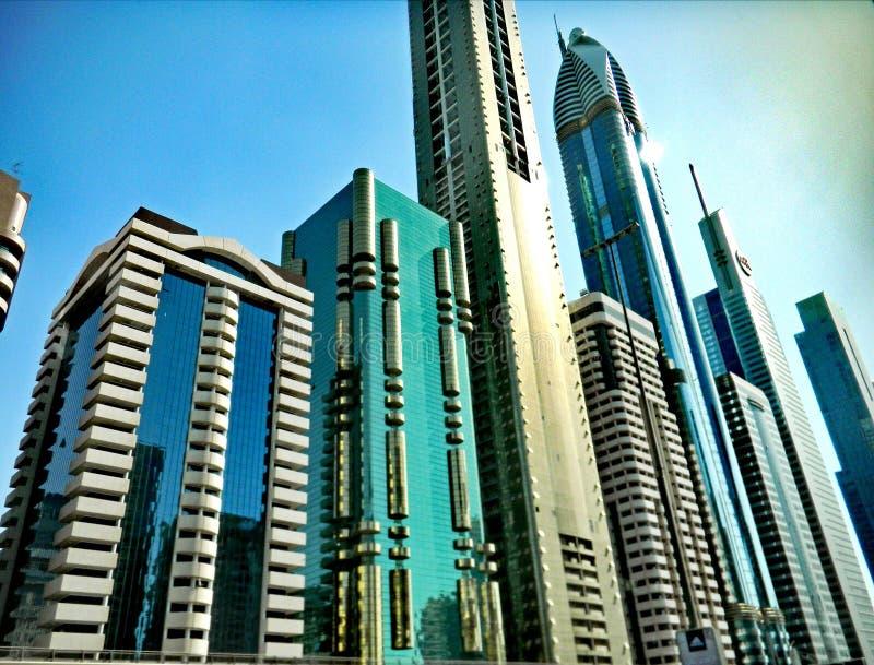 城市迪拜地铁全景 布里斯托尔 免版税库存图片