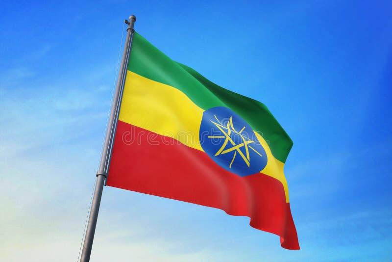 埃塞俄比亚沙文主义情绪在天空蔚蓝3D例证 皇族释放例证