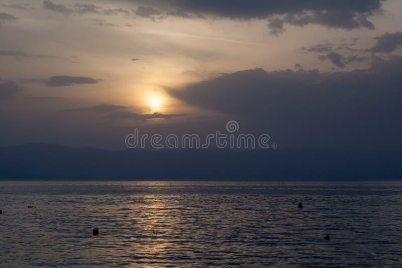 Åžunset over the sea. Shot of spectacular sunset in Croaita stock image