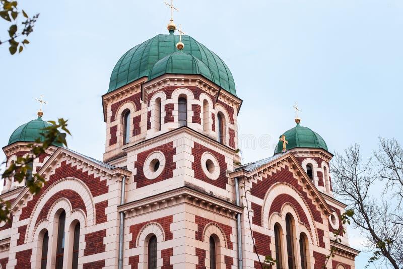 圣乔治东正教伟大在利沃夫州,乌克兰 图库摄影