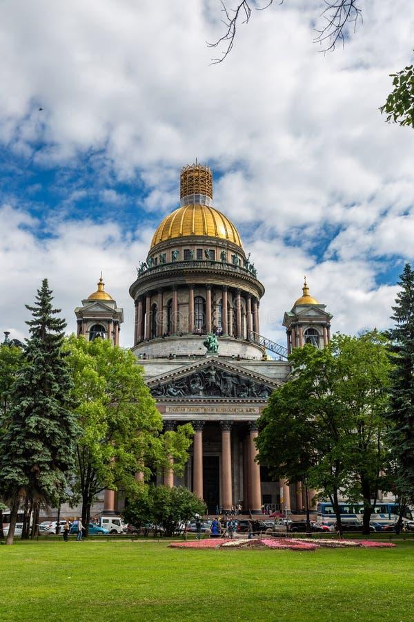 圣以撒` s大教堂看法  圣彼德堡 俄国 库存图片