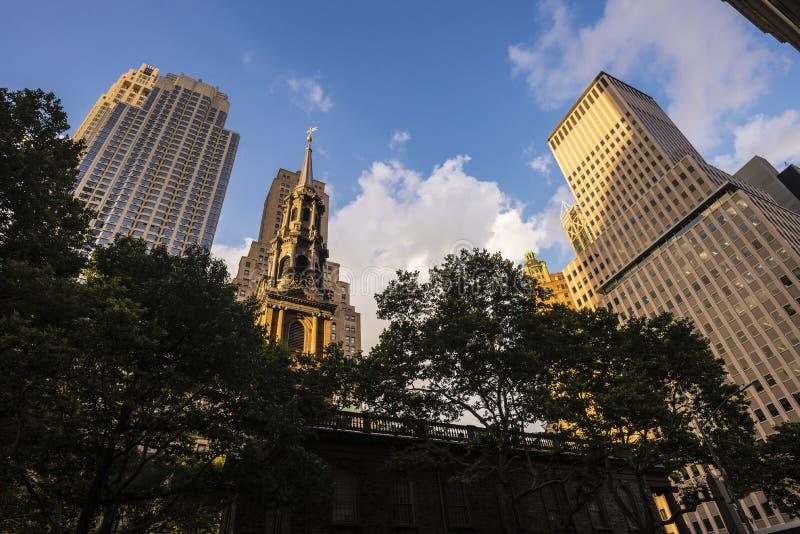 圣保罗的墓地在曼哈顿在纽约,美国 免版税库存照片
