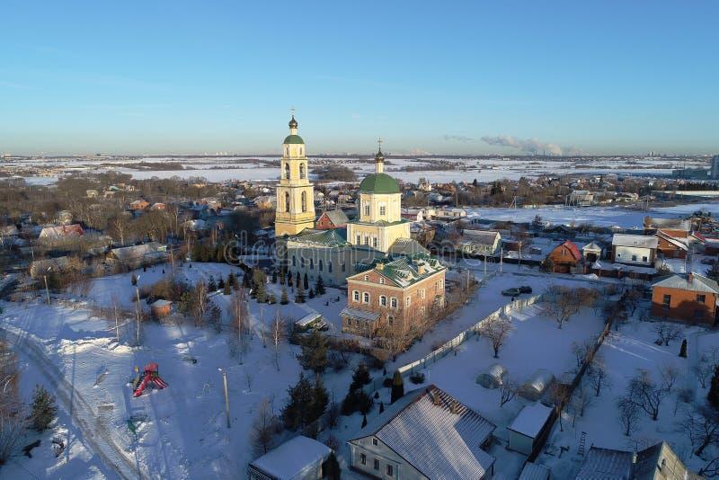 圣尼古拉斯教会在多莫杰多沃,莫斯科地区,俄罗斯 免版税图库摄影