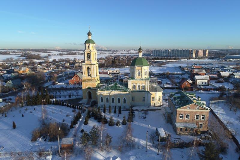 圣尼古拉斯教会在多莫杰多沃,莫斯科地区,俄罗斯 库存照片