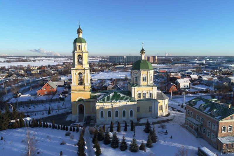 圣尼古拉斯教会在多莫杰多沃,莫斯科地区,俄罗斯 免版税库存照片