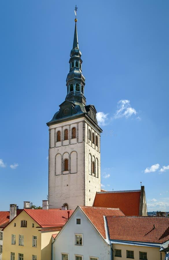 圣尼古拉斯教会,塔林,爱沙尼亚 库存照片
