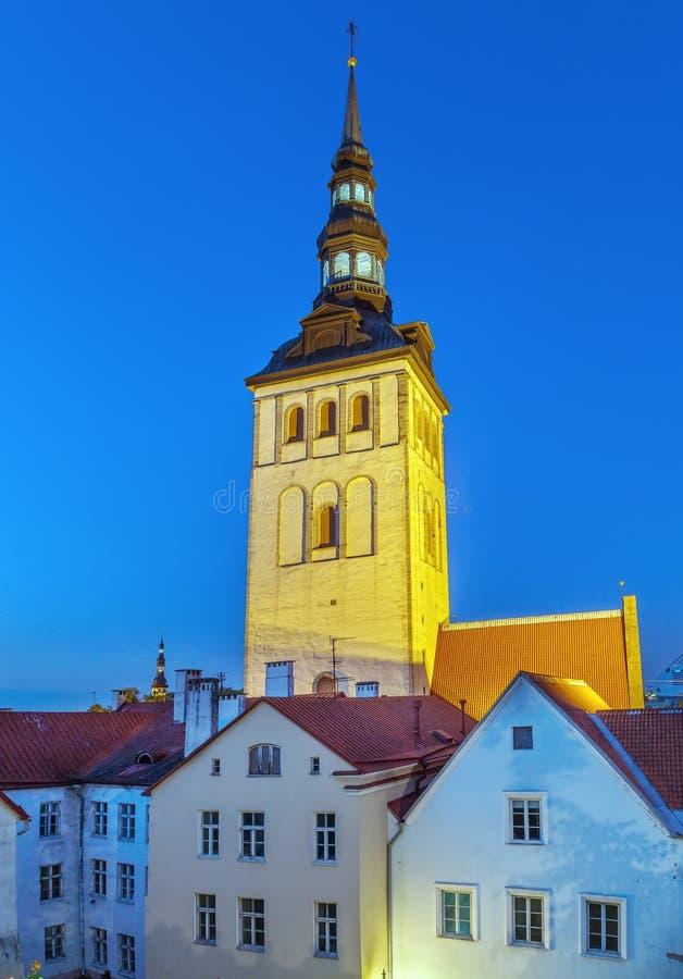 圣尼古拉斯教会,塔林,爱沙尼亚 免版税库存照片
