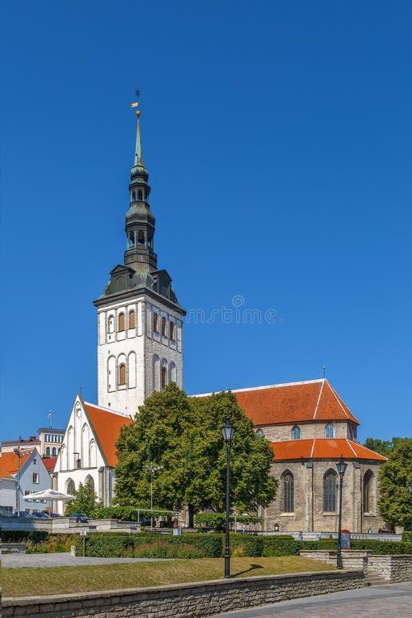 圣尼古拉斯教会,塔林,爱沙尼亚 库存图片