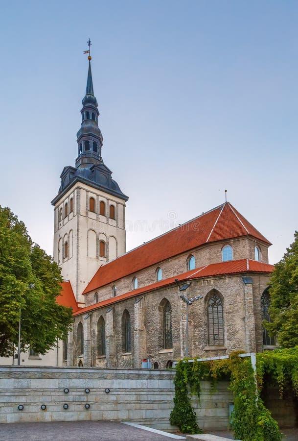 圣尼古拉斯教会,塔林,爱沙尼亚 免版税图库摄影