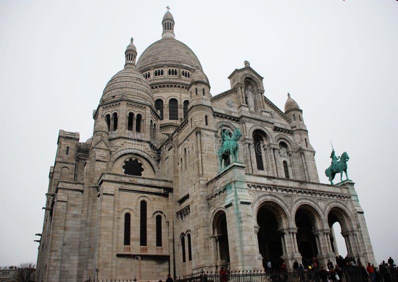 圣心圣殿,蒙马特,巴黎,法国 库存照片
