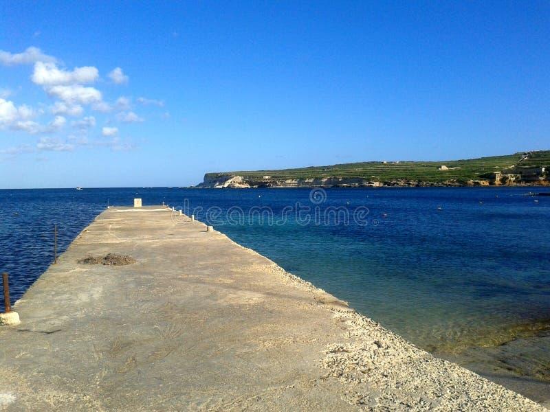 圣托马斯海湾海滩 免版税图库摄影