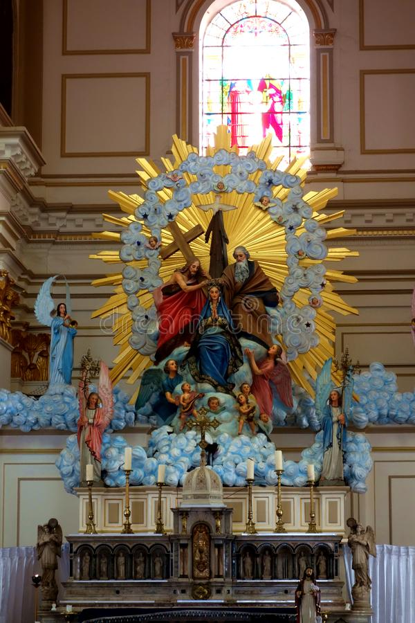 圣玛丽的教会在内贡博斯里兰卡修改 库存图片