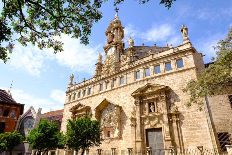 圣胡安,巴伦西亚,西班牙教会  库存照片