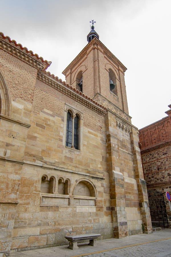 圣胡安de el梅卡度教会在贝纳旺特 免版税库存照片
