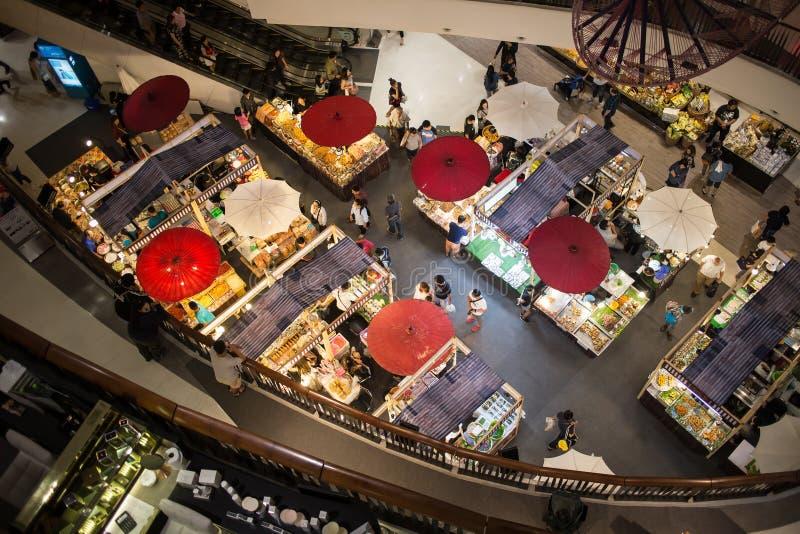 在中央节日清迈的食物节日 库存照片