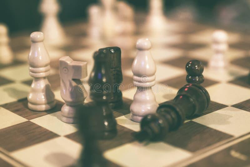 在下棋比赛期间的验查员 免版税图库摄影