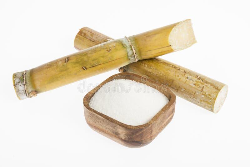 在一个木碗的白糖 免版税库存图片