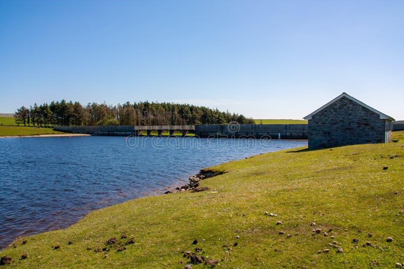 在博德明的Crowdy水库停泊康沃尔郡英国 免版税库存照片