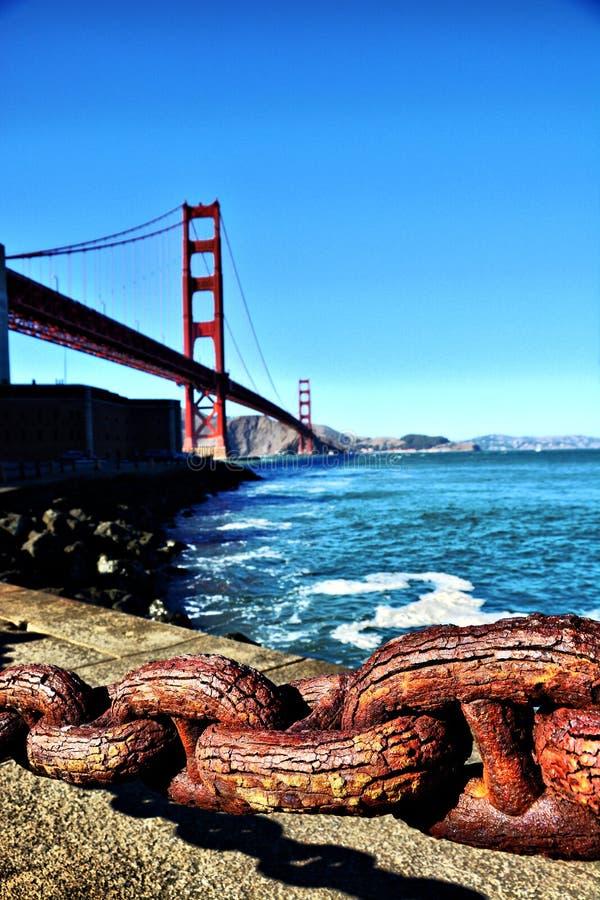 在它最美好的金门桥 图库摄影