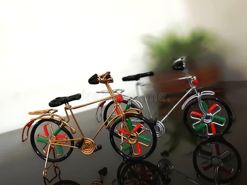 在德里买的微型自行车印度 库存照片