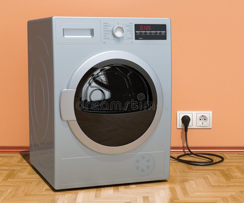 在内部,3D的干衣机 向量例证