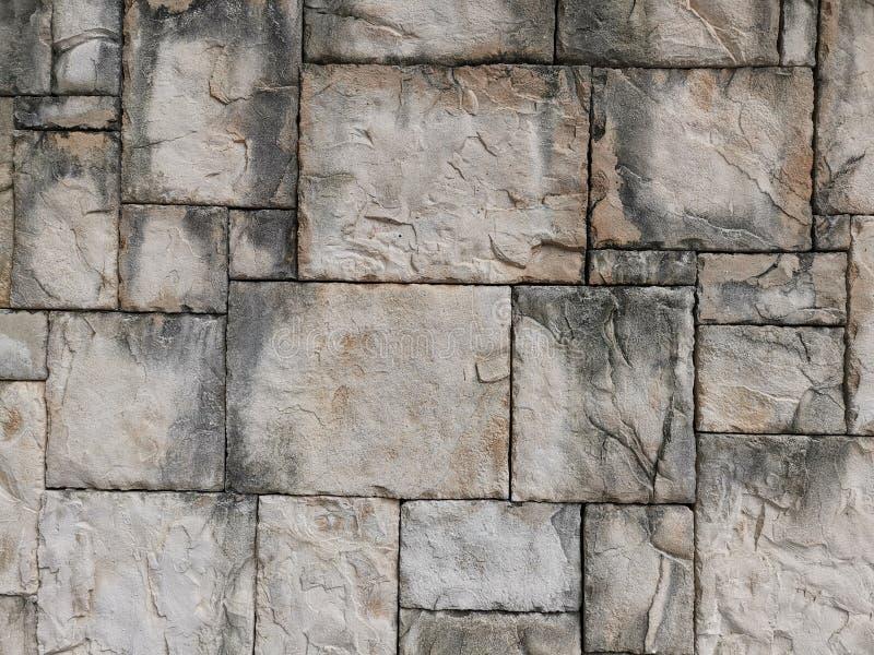在泰尔福特路面广场九龙香港的石墙 免版税图库摄影