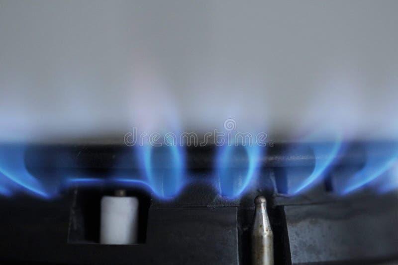 在火炉的天然气 免版税库存照片