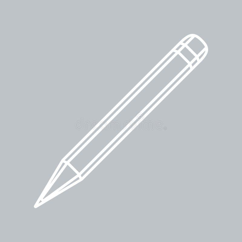在灰色背景的铅笔平的象任何场合的 皇族释放例证