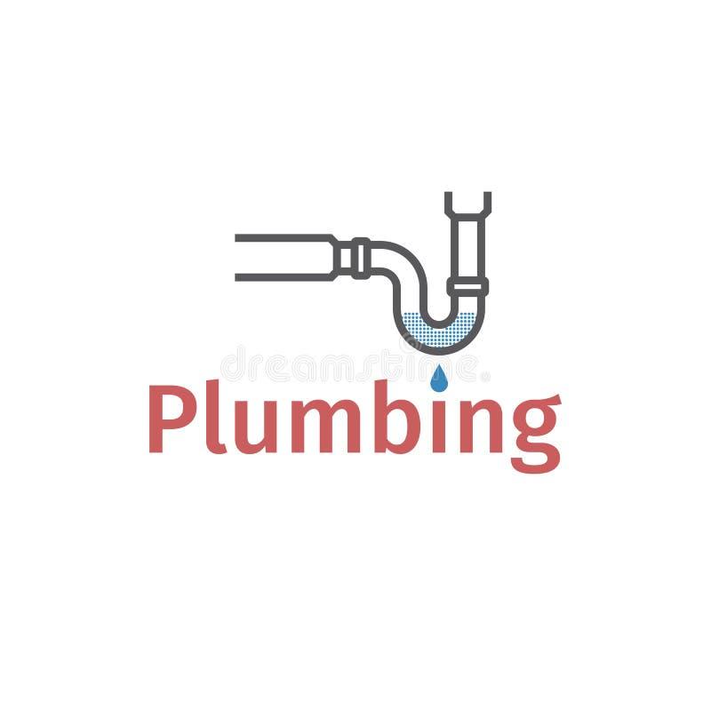 在管子的障碍物 封锁的管道 在封锁的流失的泥,畅通,水泄漏 也corel凹道例证向量 向量例证