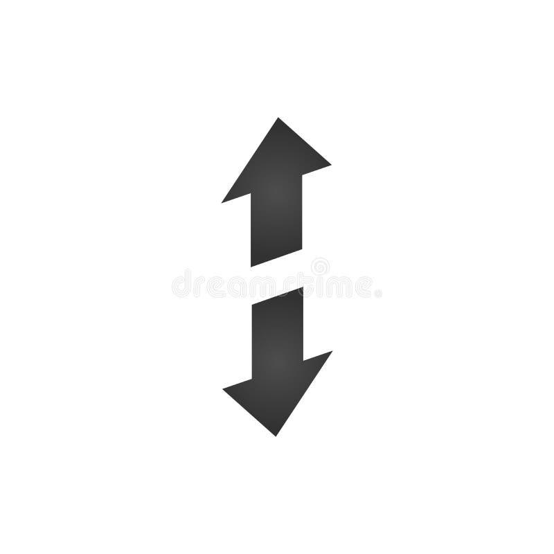 在箭头,转移方向箭头上下的3d 在空白背景查出的向量例证 向量例证