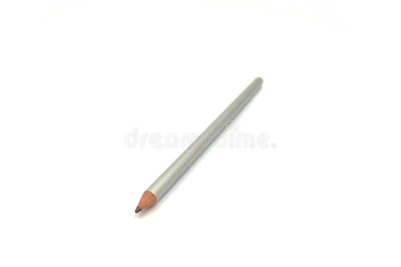 在纯净的白色背景的令人惊讶的被隔绝的铅笔 免版税库存图片