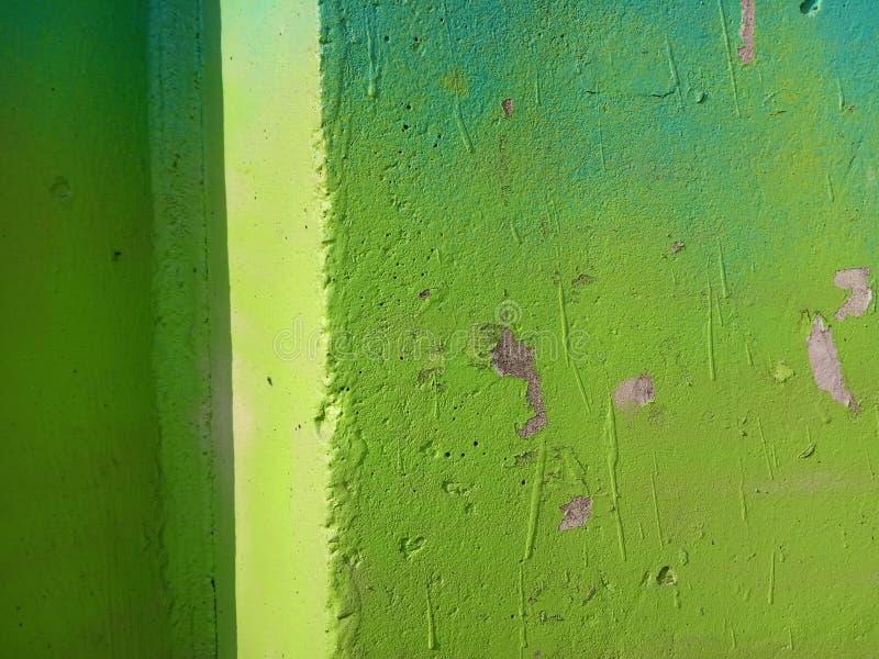 在绿色口气的抽象设计构成 墙壁的接近的具体射击 图库摄影