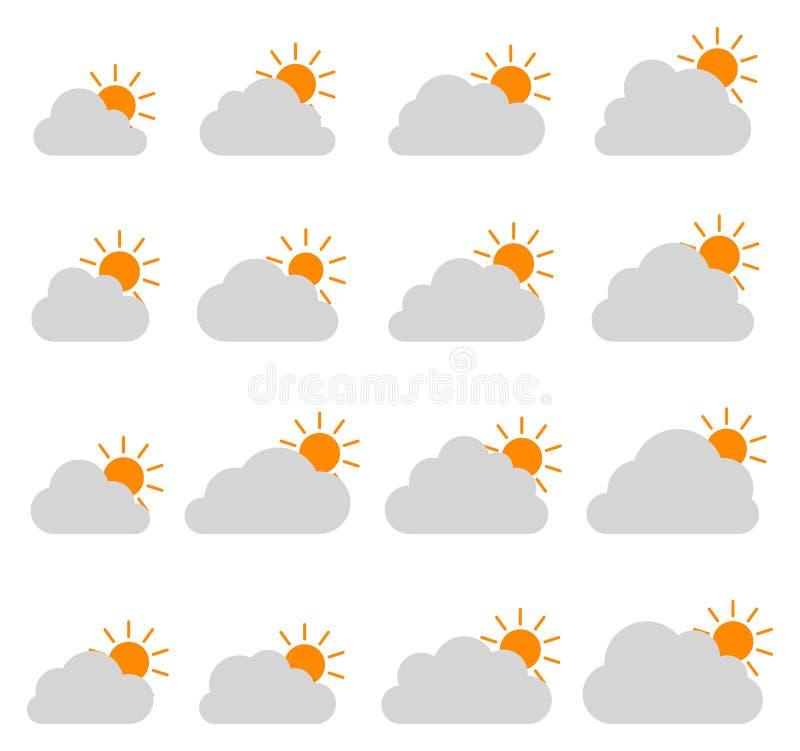 在白色背景的主要多云象 向量例证