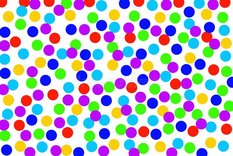 在白色背景的多彩多姿的圈子 库存例证
