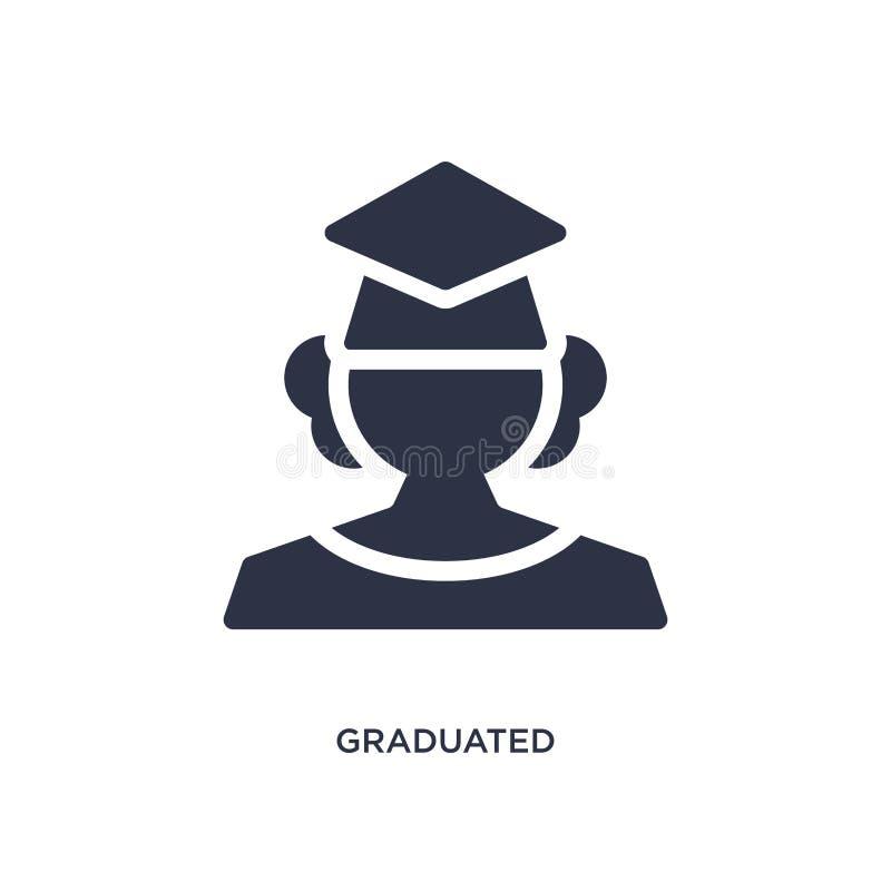在白色背景的毕业的象 从毕业和教育概念的简单的元素例证 库存例证