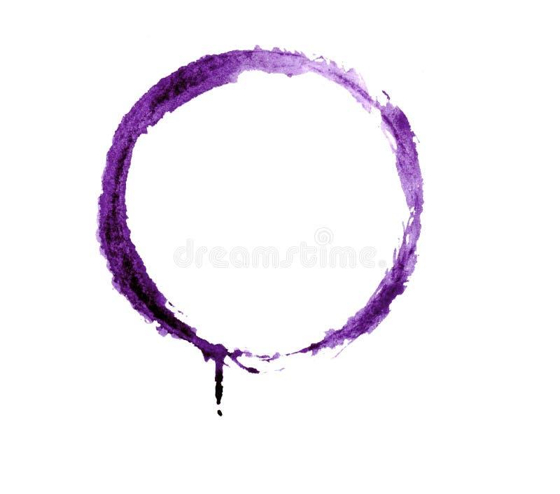 在白色背景的水彩紫罗兰色回合 皇族释放例证