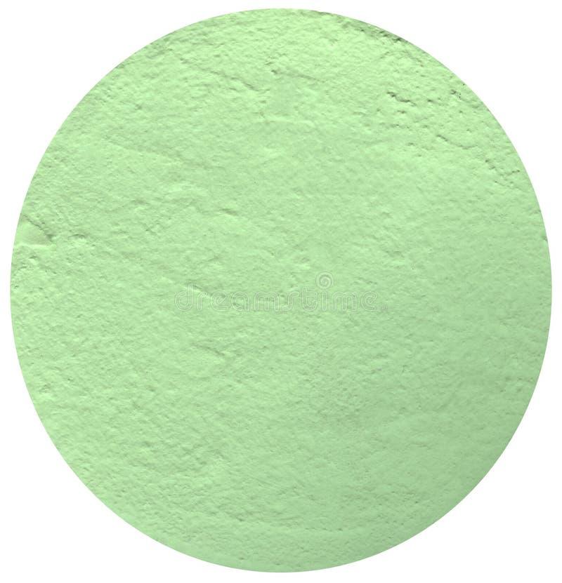 在白色背景的浅绿色的圈子,膏药圈子  图库摄影