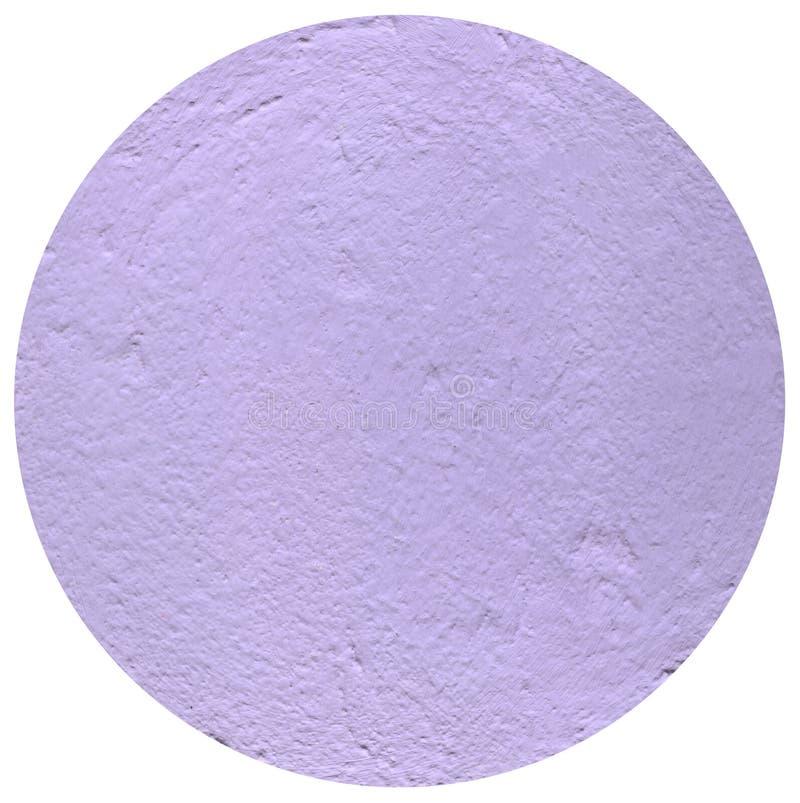 在白色背景的浅紫色的圈子,膏药圈子  免版税图库摄影