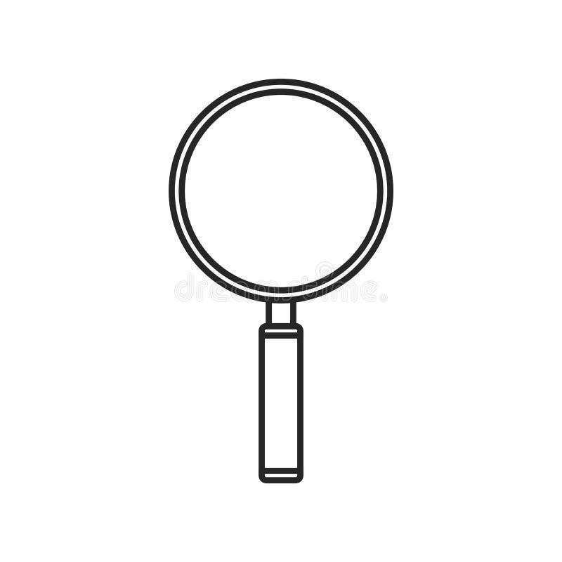 在白色背景的放大镜象,任何场合的 向量例证