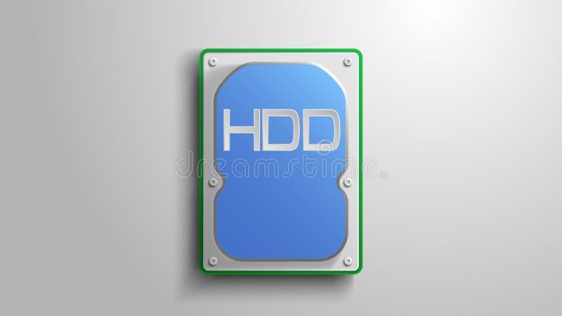 在白色背景的硬盘 库存例证