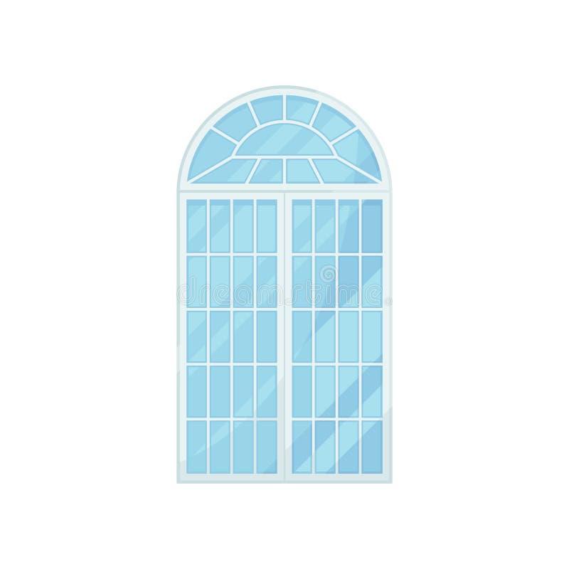在白色背景的玻璃曲拱门 也corel凹道例证向量 库存例证