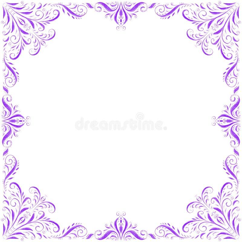 在白色背景的紫色装饰装饰品 向量例证