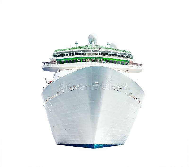 在白色背景的被隔绝的巡航划线员 免版税库存照片