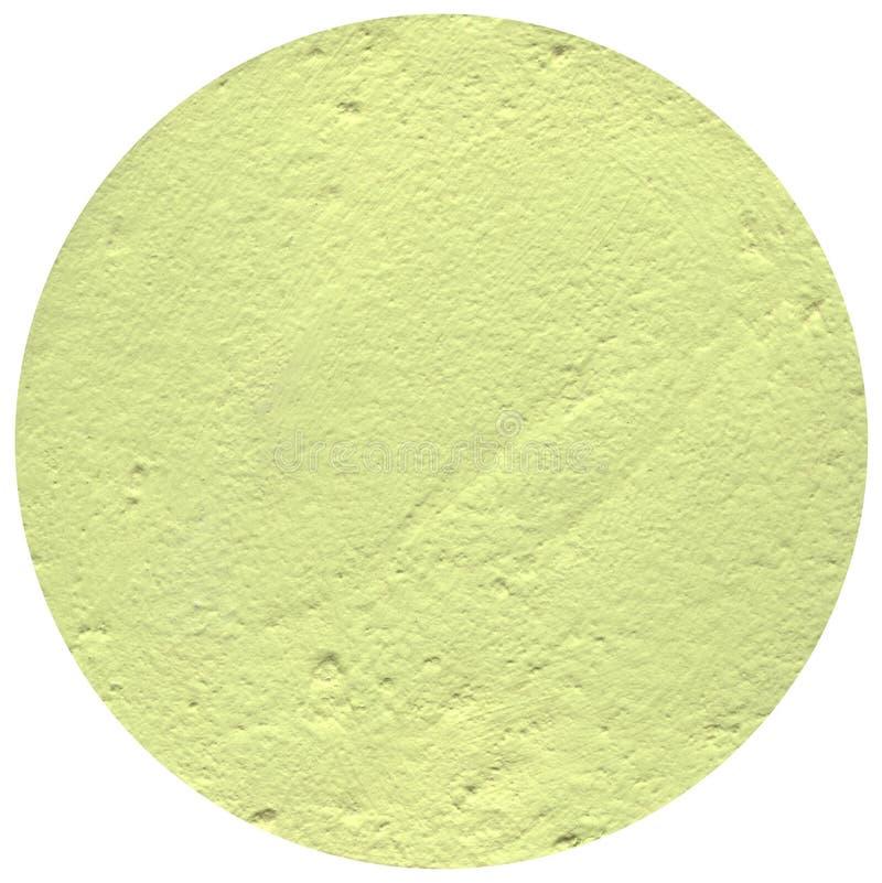 在白色背景的Ight黄色圈子,膏药圈子 图库摄影